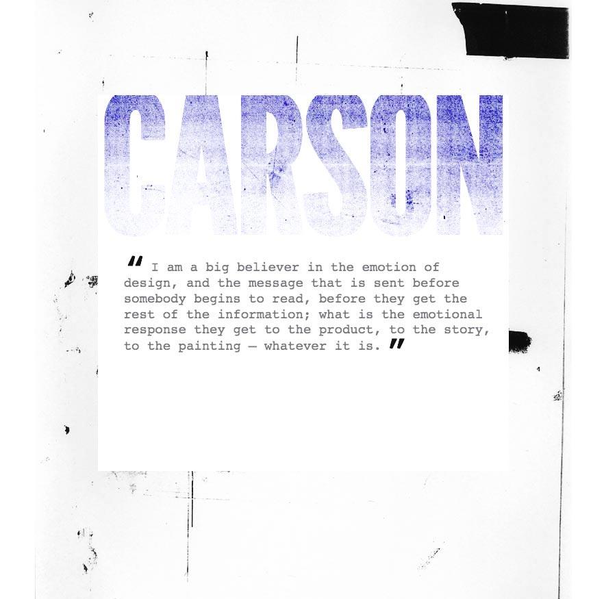 Carson: Textured fluid type - Steve Honeyman